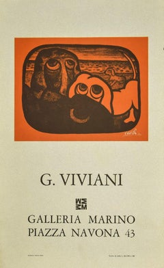 Eyes - Vintage Offset Print after Giuseppe Viviani - 1970