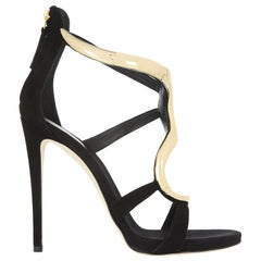 Giuseppe Zanotti Alien Metal and Suede Sandals