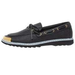 Giuseppe Zanotti Black Leather Bow Slip On Sneakers 44