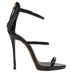 Giuseppe Zanotti Black Patent Leather Strappy Sandals