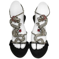 Giuseppe Zanotti Dragon with Rhinestone Sandal Heels