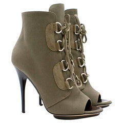 Giuseppe Zanotti Green Lace Up Booties 40