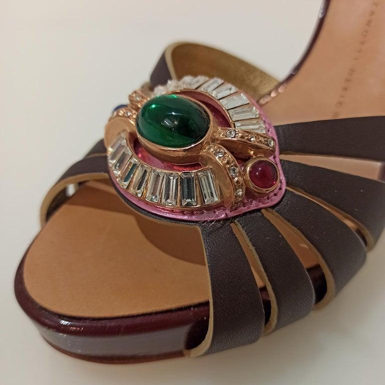 Giuseppe Zanotti Jewel Sandal 38 In Excellent Condition For Sale In Gazzaniga (BG), IT