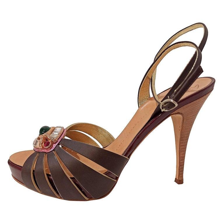 Giuseppe Zanotti Jewel Sandal 38 For Sale