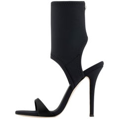 Giuseppe Zanotti NEW Black Neoprene Sock Evening Boots Booties Heels in Box