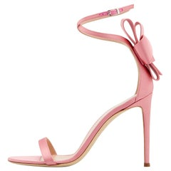 Giuseppe Zanotti NEW Pink Satin Bow Flower Evening Sandals Heels in Box
