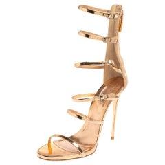 Giuseppe Zanotti Peach Patent Leather Alien Siutta Sandals Size 39.5