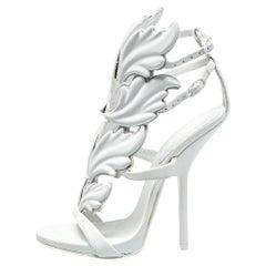Giuseppe Zanotti White Leather Cruel Wing Sandals Size 35