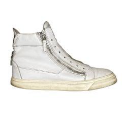 Giuseppe Zanotti White Leather Sneaker Mens (44 EU)