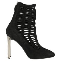 Giuseppe Zanotti Woman Ankle boots Black Leather IT 38
