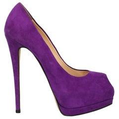 Giuseppe Zanotti Woman Pumps Purple Leather IT 37.5