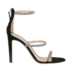 Giuseppe Zanotti Woman Sandals Black Leather IT 40