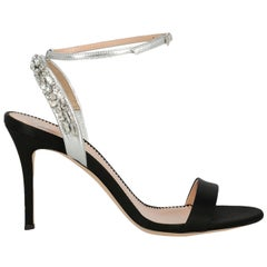 Giuseppe Zanotti Woman Sandals Black Silk IT 38