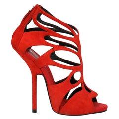 Giuseppe Zanotti Woman Sandals Red Leather IT 36