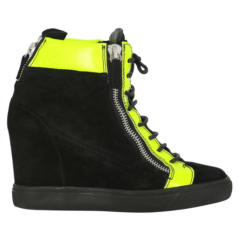 Giuseppe Zanotti Woman Sneakers Black Leather IT 38