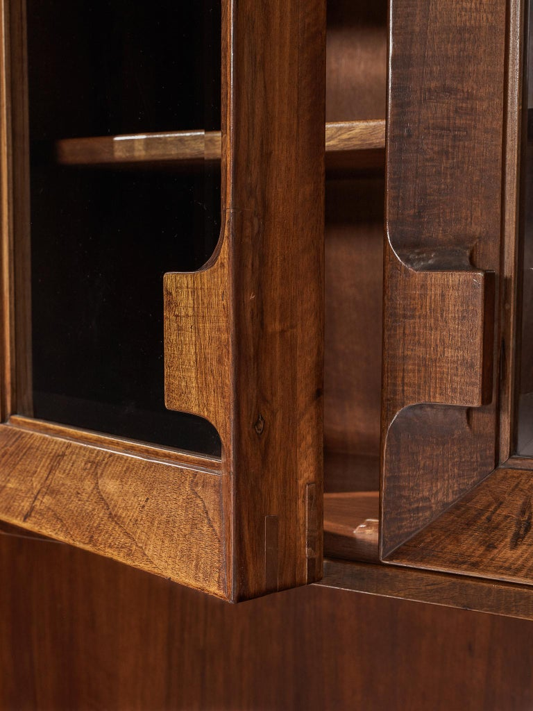 Giusseppe Rivadossi Wall Unit in Carved Oak For Sale 1