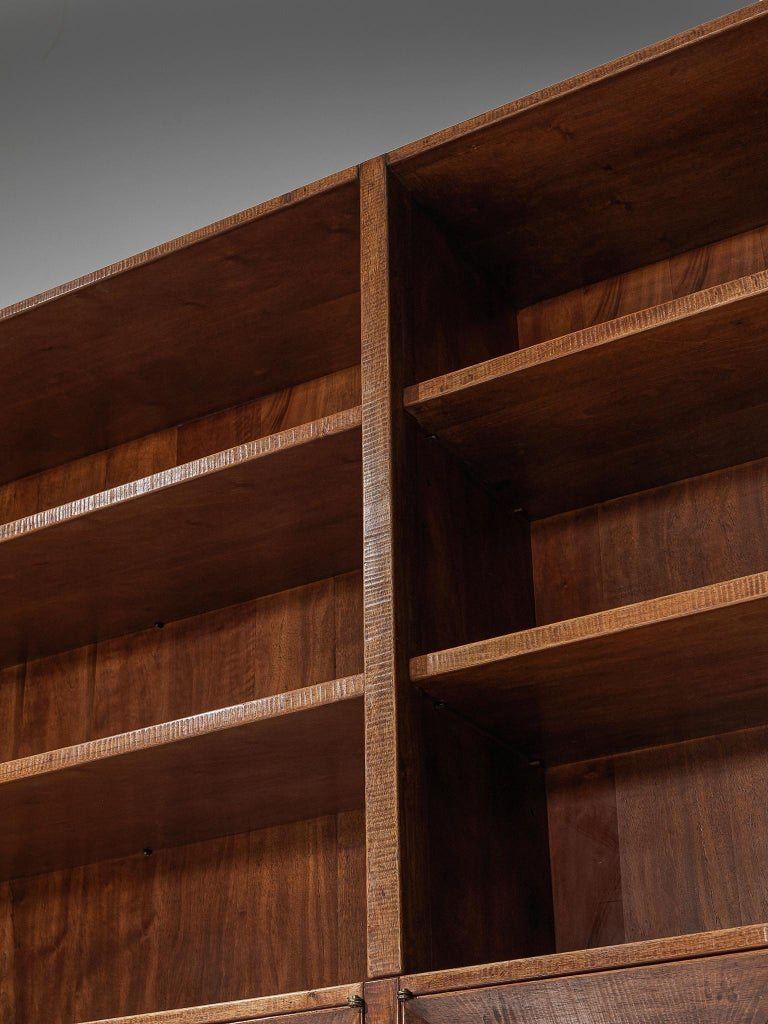 Giusseppe Rivadossi Wall Unit in Carved Oak For Sale 3