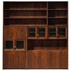 Giusseppe Rivadossi Wall Unit in Carved Oak