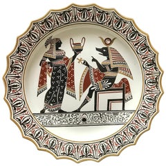 Giustiniani Egyptomania Pottery Plate with Anubis