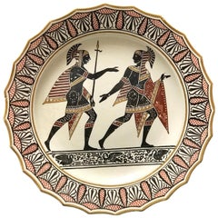 Giustiniani Egyptomania Pottery Plate with Gilt Highlights, Swan Right