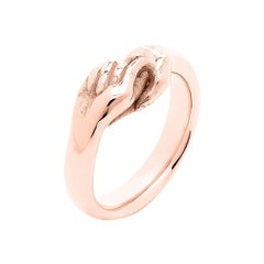 Give & Receive 18 Carat Rose Gold Ring by Lorenzo Quinn