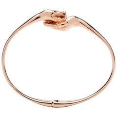 Give & Receive 18 Carat Rose Golden Bangle Bracelet by Lorenzo Quinn