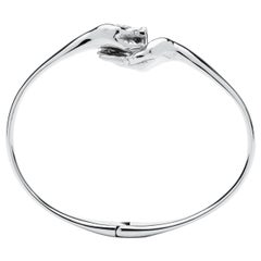 Give and Receive 18 Carat White Golden Bangle Bracelet by Lorenzo Quinn
