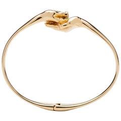 Give & Receive 18 Carat Yellow Gold Bangle Bracelet by Lorenzo Quinn