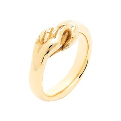 Give & Receive 18 Carat Yellow Gold Ring by Lorenzo Quinn