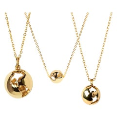 Give the Earth Gold Plated Jewelry Necklace Set by Cristina Ramella