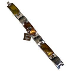 Givenchi 1970s Enamel Charm Bracelet
