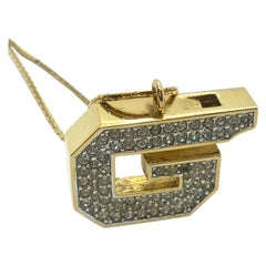 Givenchy 1970s Vintage Whistle Pendant Necklace
