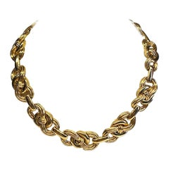 Givenchy 1980s Knot Link Necklace