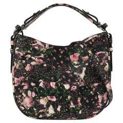 GIVENCHY 2003 Multi Floral Rose Violets Camouflage Shoulder Bag Crossbody Strap