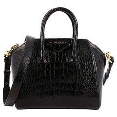 Givenchy Antigona Bag Crocodile Embossed Leather Mini