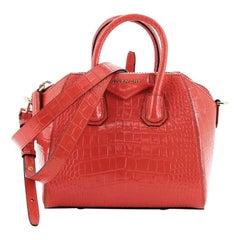 Givenchy Antigona Bag Crocodile Embossed Leather Small
