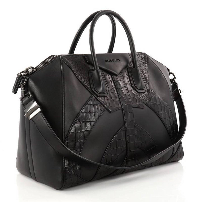 daffe03d15 Givenchy Antigona Bag Leather and Crocodile Embossed Large at 1stdibs