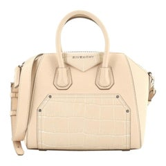 Givenchy Antigona Bag Leather and Crocodile Embossed Leather Mini