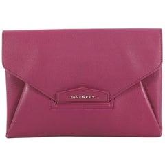 Givenchy Antigona Envelope Clutch Leather Medium