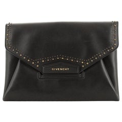 Givenchy Antigona Envelope Clutch Studded Leather Medium