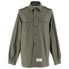 Givenchy Army Green Military Shirt Size 39