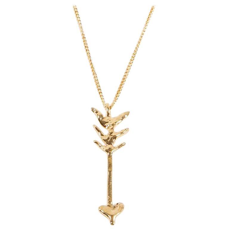 Givenchy Arrow Pendant Gold Color Necklace For Sale