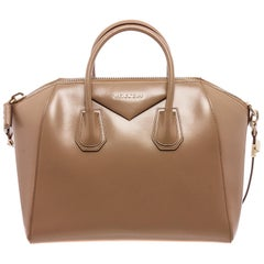 Givenchy Beige Smooth Leather Large Antigona Satchel Bag