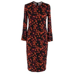 Givenchy Black Abstract Floral Dress 40 FR