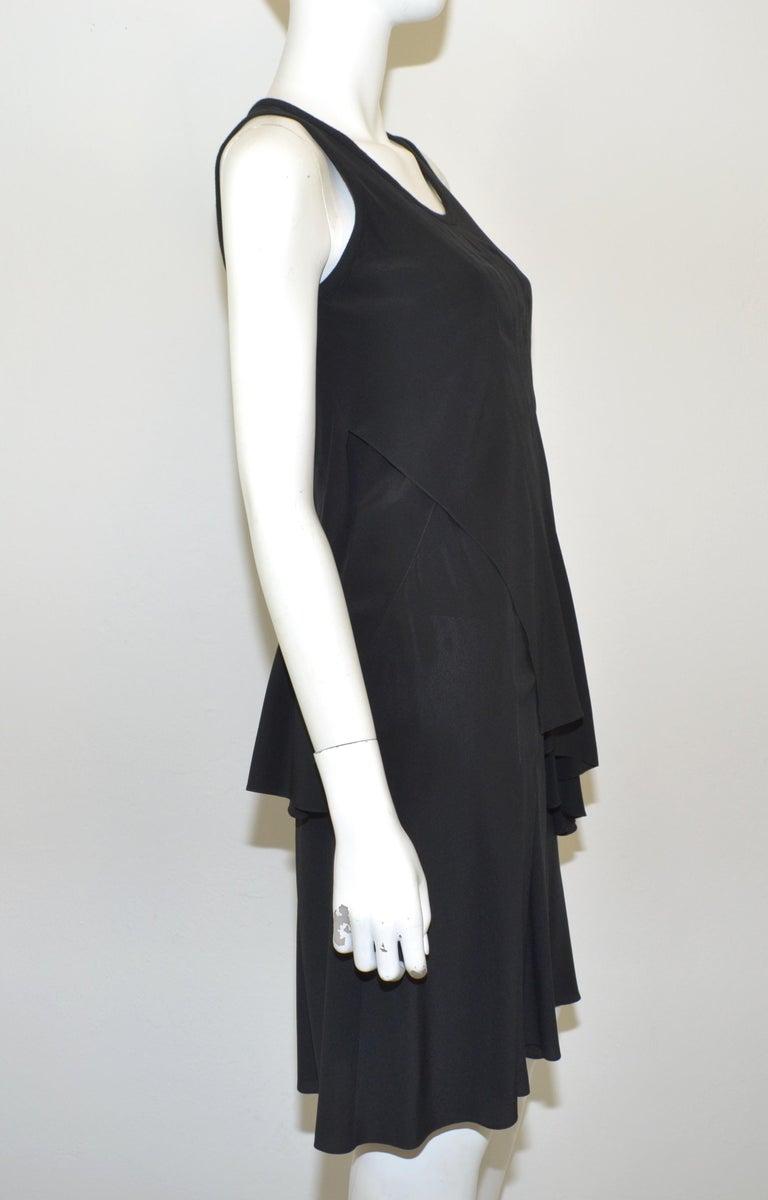 Givenchy Black Asymmetric Pleated Silk Dress NWT For Sale 1