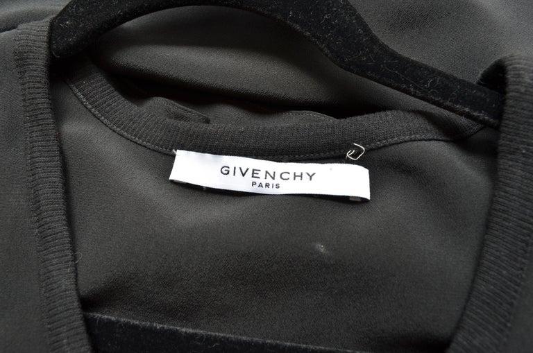 Givenchy Black Asymmetric Pleated Silk Dress NWT For Sale 2