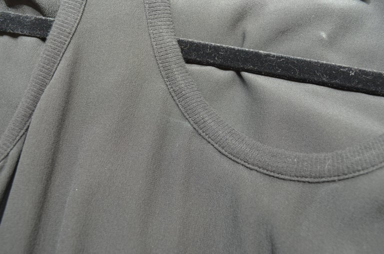Givenchy Black Asymmetric Pleated Silk Dress NWT For Sale 4