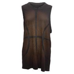 Givenchy Black & Brown Sleeveless Basketball Print Top