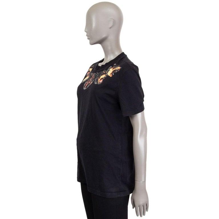Black GIVENCHY black cotton ROTTWEILER NECK T-Shirt Shirt L For Sale
