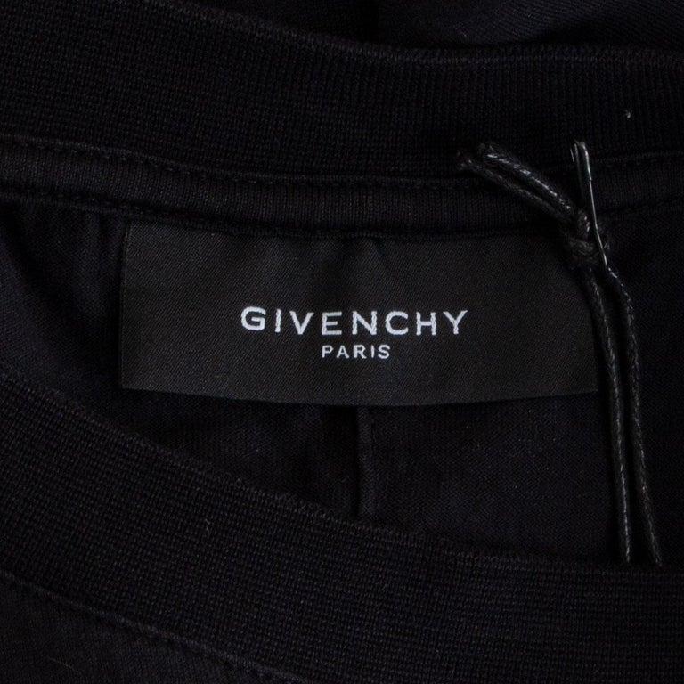 GIVENCHY black cotton ROTTWEILER NECK T-Shirt Shirt L For Sale 1